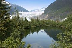Ghiacciaio e lago di Mendenhall vicino a Juneau Alaska Fotografia Stock Libera da Diritti