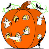 Ghost in the pumpkin Royalty Free Stock Photo