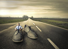 Giant shoes Royalty Free Stock Images