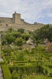 Giardini davanti al castello Immagine Stock