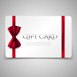 Gift card with red bow Stock Images