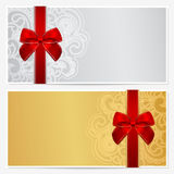 Gift certificate (Voucher, coupon) template Stock Image