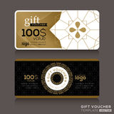 Gift certificate voucher coupon template Stock Image