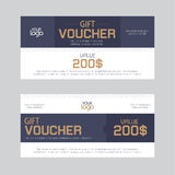 Gift Voucher Template Vector illustration Royalty Free Stock Photography
