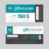 Gift Voucher Template Vector illustration Royalty Free Stock Photo