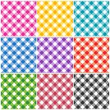 Gingham patterns Royalty Free Stock Images