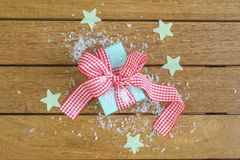 Gingham Wrapped Gift Royalty Free Stock Photos