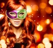 Girl in a Carnival mask Stock Image