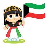 Girl Celebrates Kuwait National Day Stock Photos