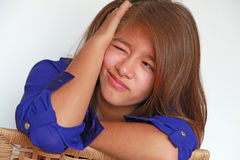 Girl with facial expression Stock Image
