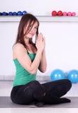 Girl fitness recreation Royalty Free Stock Photos