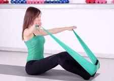Girl fitness recreation Stock Photography