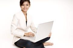 Girl With Laptop 6 Stock Photos