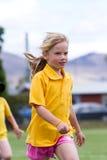 Girl in race Stock Photography