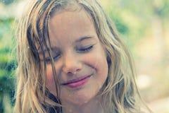 Girl in rain Royalty Free Stock Photo