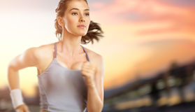 Girl in sport Royalty Free Stock Image