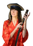 Girl in traditional oriental  Royalty Free Stock Image