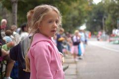 Girl Watching Parade Stock Image