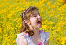Girl Yelling Royalty Free Stock Images