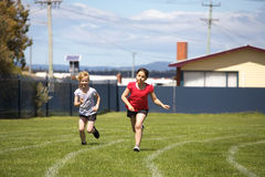 Girls in sports race Royalty Free Stock Photography