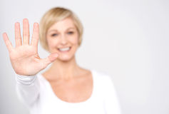 Give me high five gesture Stock Image