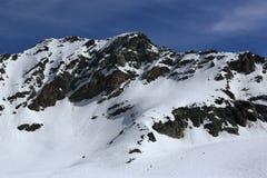 Glacier, Bellecote, Plagne Centre, Winter landscape in the ski resort of La Plagne, France Royalty Free Stock Image