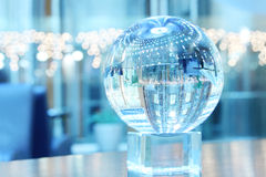 Glass sphere on support Royalty Free Stock Photo