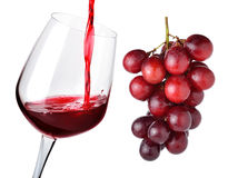Glass of wine and grapes Royalty Free Stock Photo