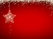 Glitter christmas card Royalty Free Stock Image