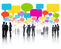 Global Business Communications with Colorful Speech Bubble Stock Photography
