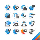 Global Business Finance icon  - Simplicity Series Stock Photography