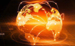 Global business network Royalty Free Stock Image