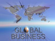Global business world map