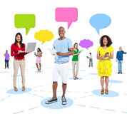 Global Communications Casual Connection Concept Royalty Free Stock Image