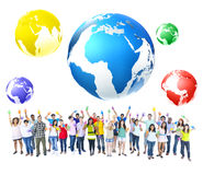 Global Communications Celebration Community Concept Stock Photos
