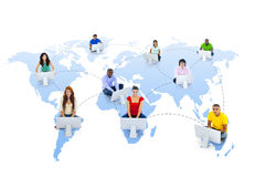 Global Communications Connection Community Teamwork Concept Stock Photo
