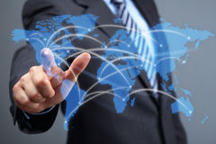 Global communications network Royalty Free Stock Photos