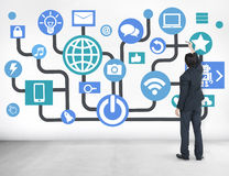 Global Communications Social Networking Business Planning Online Stock Image