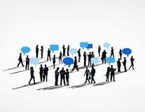 Global Communications Teamwork Speech Bubbles Concept Stock Photo
