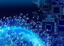 Global digital technology concept Stock Photo