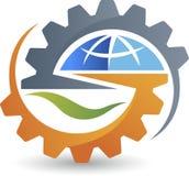 Global gear logo Stock Photo