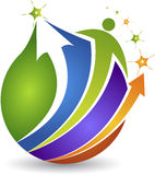Global human active logo Royalty Free Stock Photography