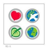 GLOBAL: Ikone stellte 02 - Version 1 ein Stockbilder