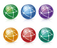 Global Network Icons Royalty Free Stock Photos