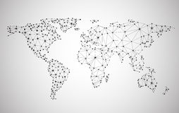 Global network mesh. Earth map Royalty Free Stock Photos