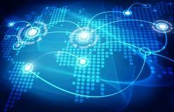 Global trading map Stock Photos