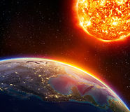 Global warming in Usa Royalty Free Stock Photos