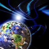 Global Worldwide Network of People Stock Photography