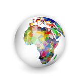 Globe géométrique de l'Afrique Image stock