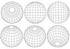 Globe grid - vector Stock Image